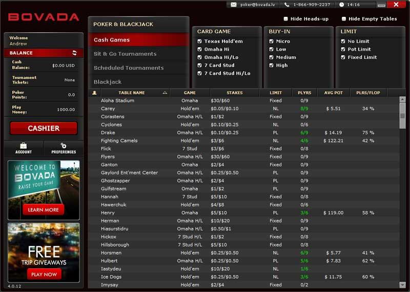 bovada-poker-lobby