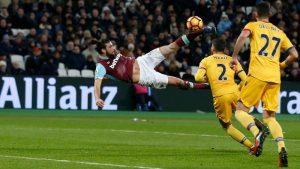 Andy Carroll, West Ham - Crystal Palace 14.01.2017