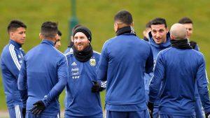 Тренировка сборной Аргентины перед матчем с Италией, 22 марта 2018